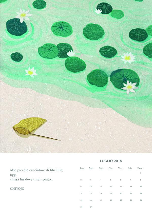 luglio, Haiku calendar