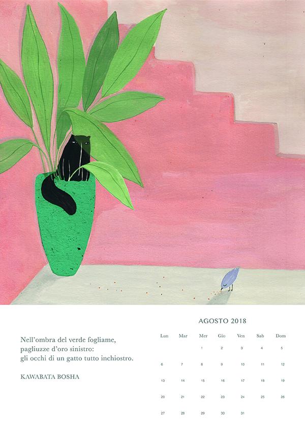 agosto, Haiku calendar